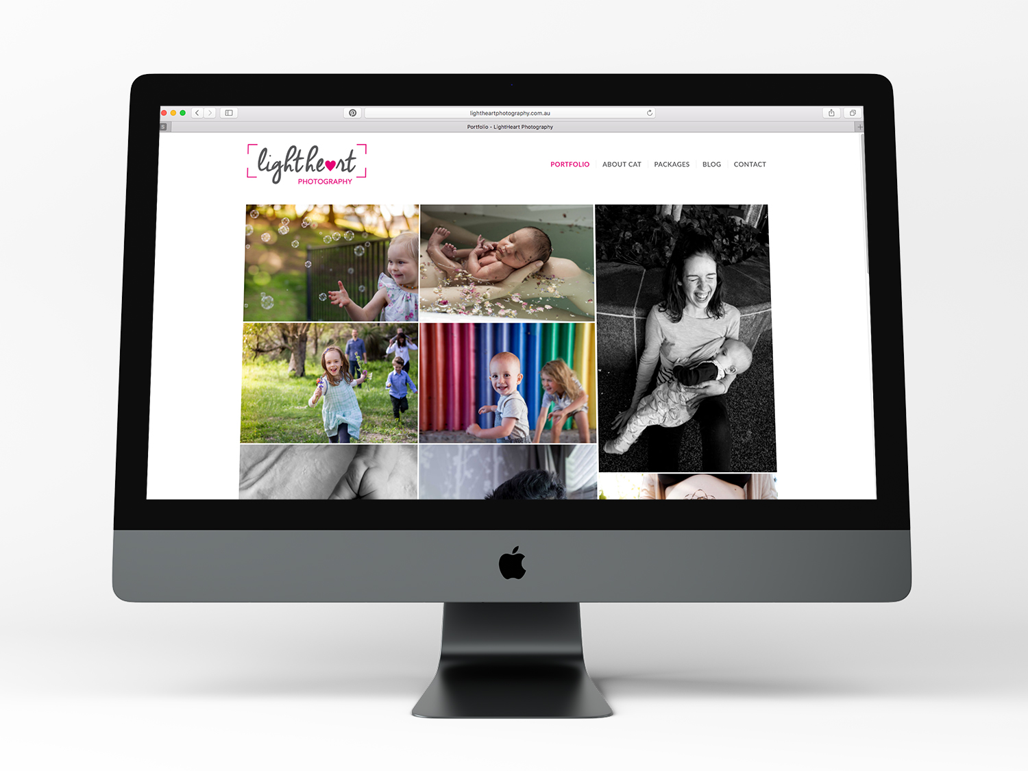 LightHeart Photography Brand and Website