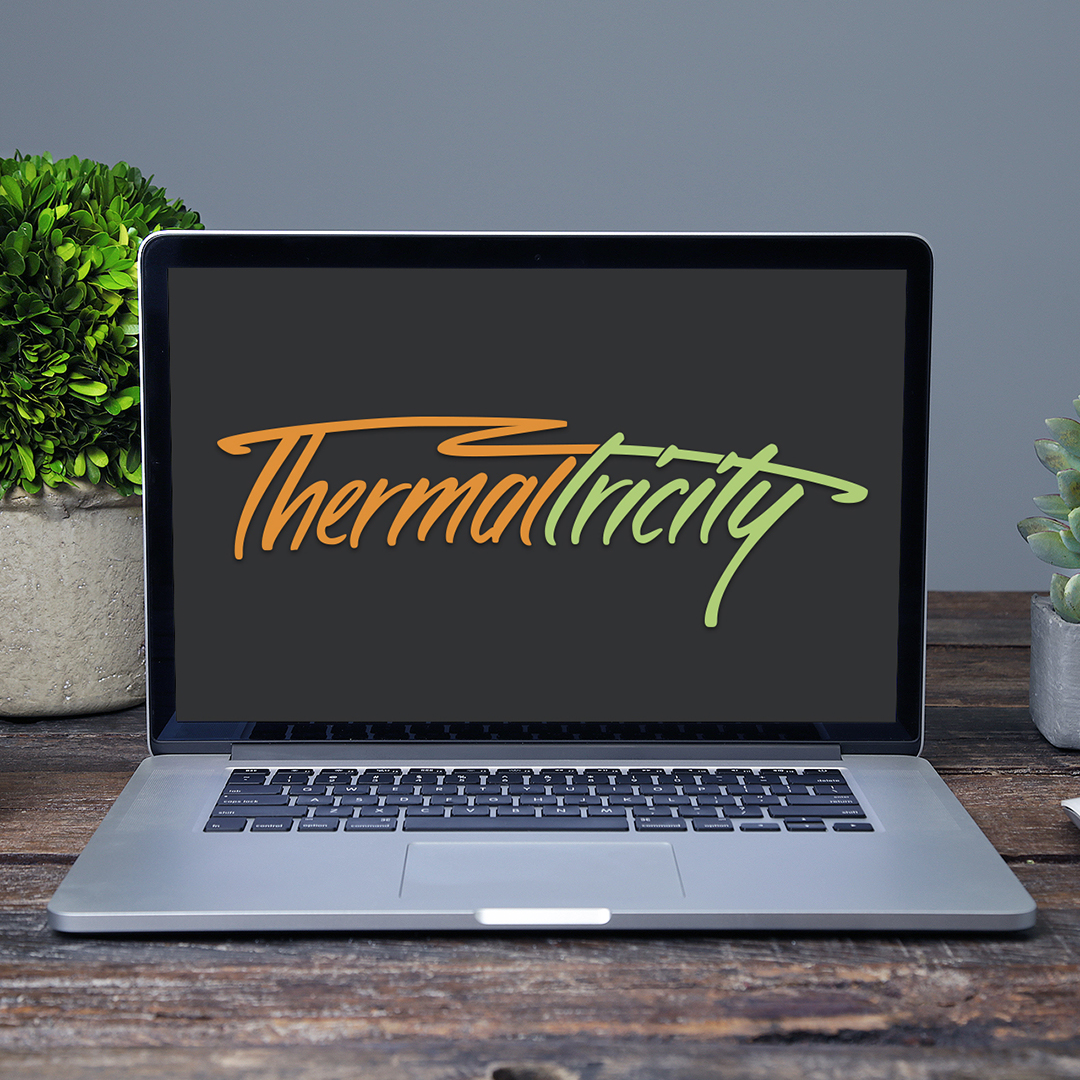 Thermaltricity – Custom hand lettered logotype