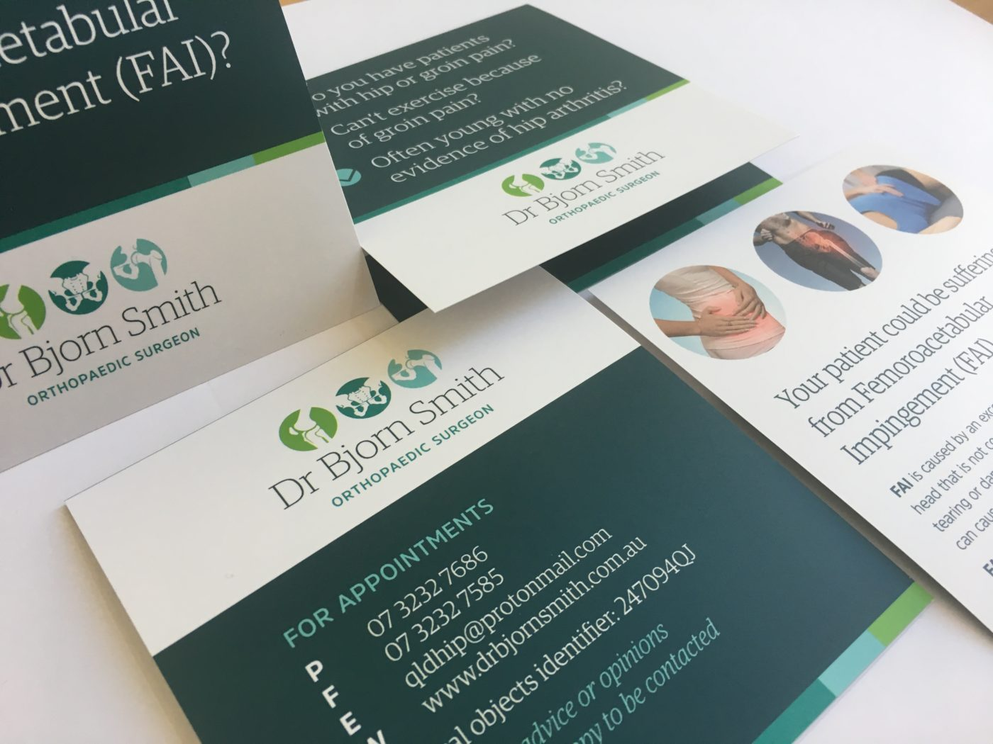 Logo, branding and print design for Dr Bjorn Smith