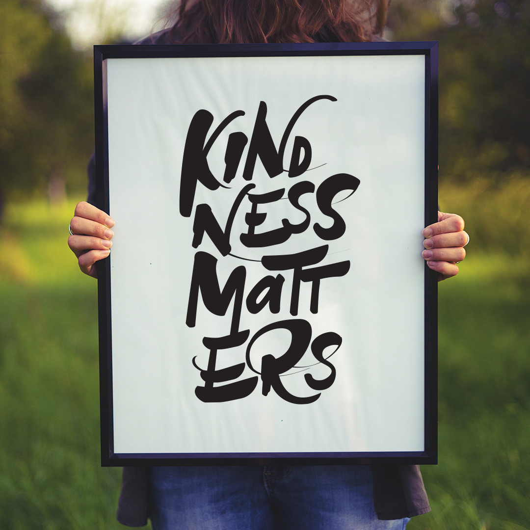'Kindness Matters' Hand Lettered Print