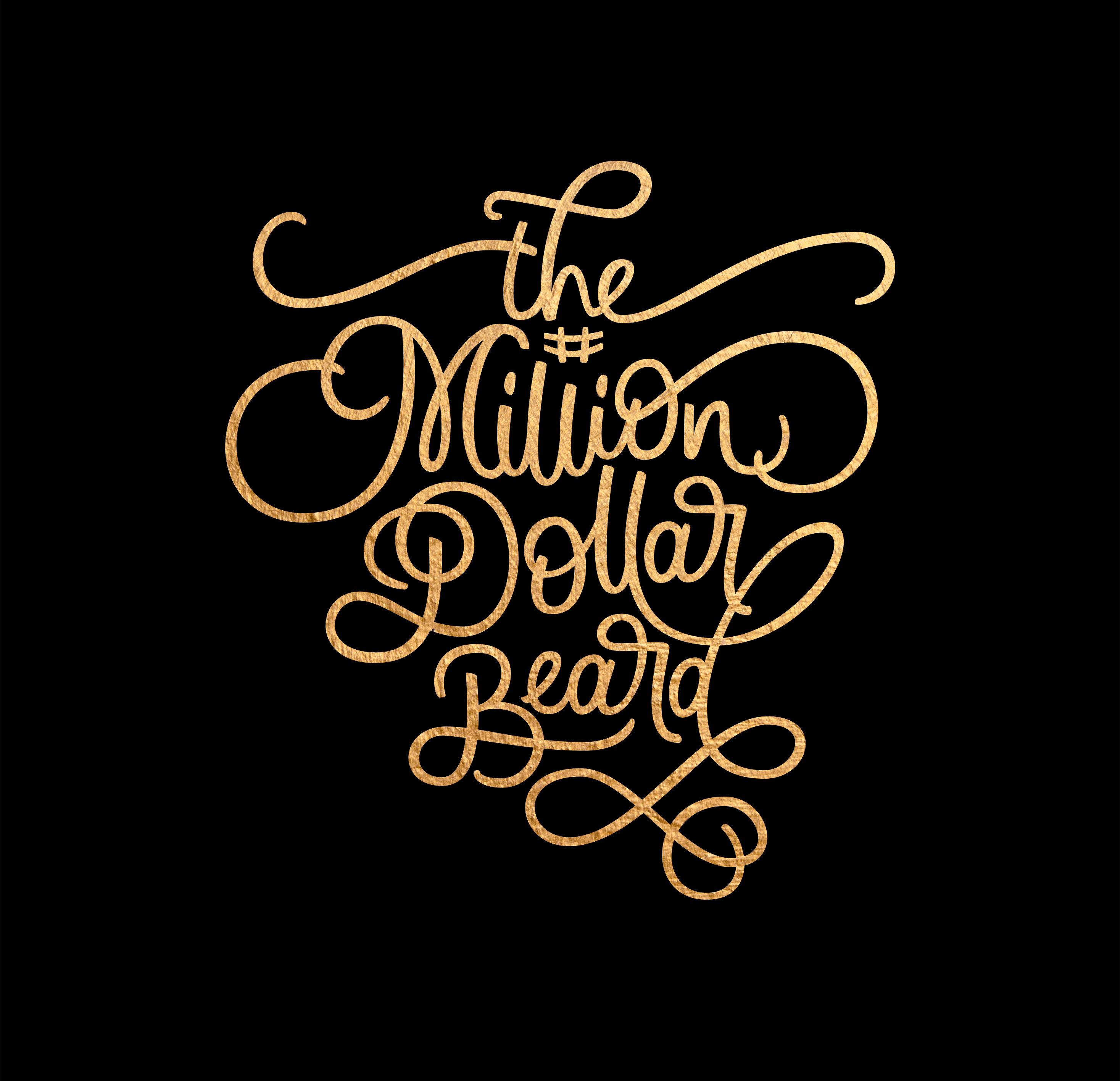 Logotype for The Million Dollar Beard